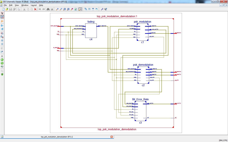 VLSI architecture for M-PSK modems